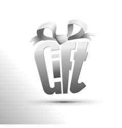 Paper logo of gift box vector