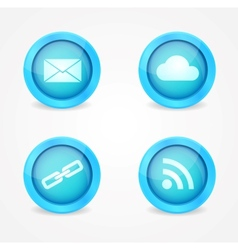 Set of glossy internet icons vector image vector image