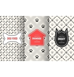 Dog seamless pattern background vector