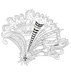 zentangle stylized flower hand drawn lace vector image