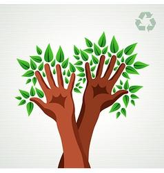 Environmental care concept vector image vector image