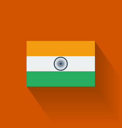 Flat flag of India vector image