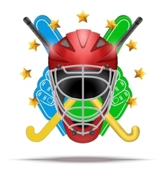 Ice hockey symbol Design elements vector image