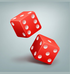 red falling dice vector image vector image
