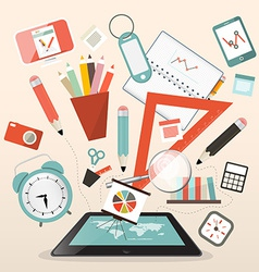 School Items - Learn and Study Management vector image