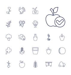 22 natural icons vector