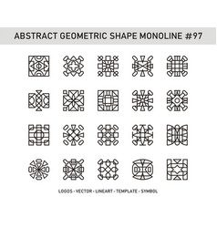 Abstract geometric shape monoline 97 vector