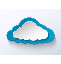 Abstract paper cloud vector