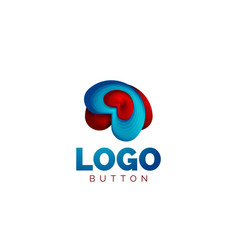 Abstract round shape logo template minimal vector