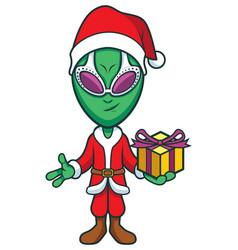 Alien santa claus vector