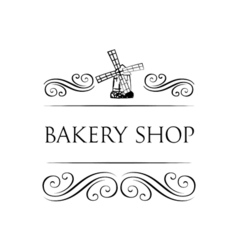 Ancient mill symbol for bakery label Windmill vector image