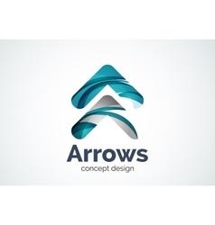 Arrow logo template next or right concept vector image
