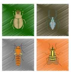 assembly flat shading style bug vector image