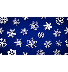 background snowflakes with shadows vector image