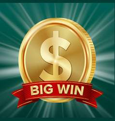 big win banner background for online casino vector image