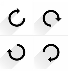 Black arrow sign refresh rotation reload icon vector