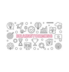 brainstorming creative outline horizontal vector image