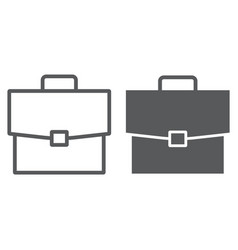 briefcase line and glyph icon office and work vector image