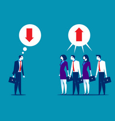 business people disagreeing with upward and vector image