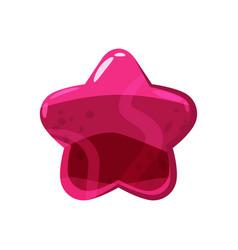 Candy honey star jelly icon cartoon style shiny vector