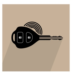 Car remote key symbol vector image