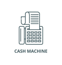 cash machine line icon linear concept vector image