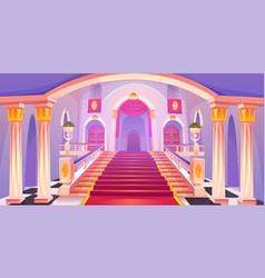 castle staircase upward stairs in palace entrance vector image
