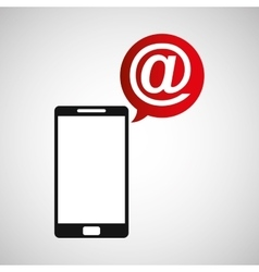 Cellphone mail web multimedia icon vector