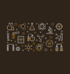 Chemistry of radioactive elements outline vector