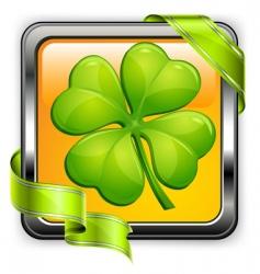 clover button vector image