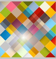 Colorful squares diagonal background retro vector