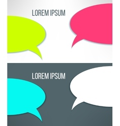 conversation background in stylish bright vector image