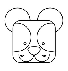 Cute bear animal head expression vector