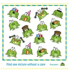 Emotional cute frogs vector image