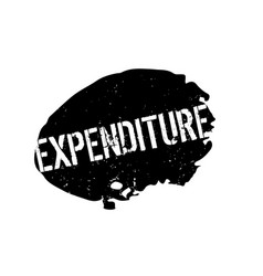 Expenditure rubber stamp vector