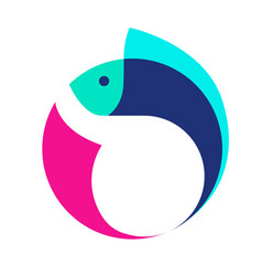 fish logo icon symbol vector image