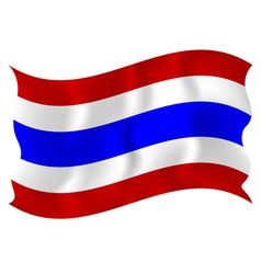 Flag of Thailand waving on a white background vector