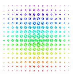 Football ball shape halftone spectrum grid vector