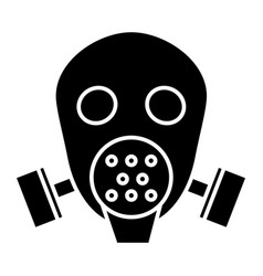 gas mask respirator icon vector image