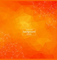 geometric orange polygonal background molecule vector image