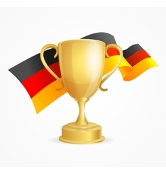 Germany Winning Cup Concept vector image