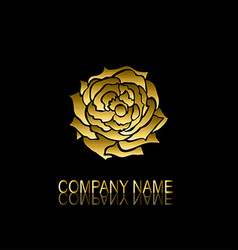 Golden rose symbol vector
