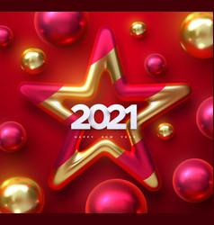 Happy new 2021 year vector