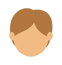 Head man with light hair without face vector