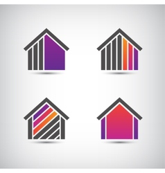 house logo for company vector image