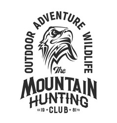 hunting club mascot eagle t-shirt print vector image