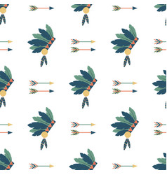 Indians colorful arrows seamless pattern vector