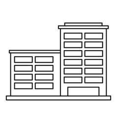 Industrial building icon outline style vector