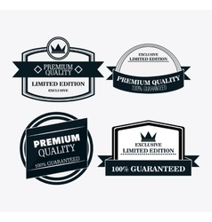Label icon set Premium and Quality design vector image
