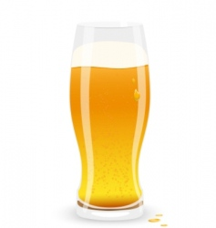 lager beer vector image vector image